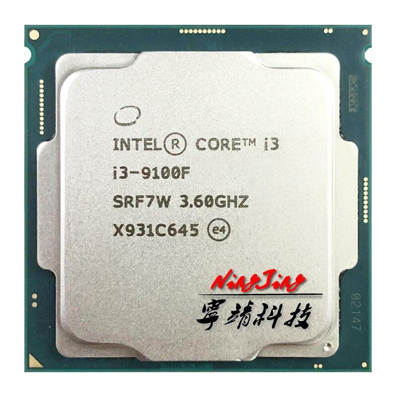 Процессор Intel Core i3-9100F i3 9100F 3,6 ГГц SRF7W /SRF6N четырехъядерный четырехпоточный процессор 65 Вт 6 Мб Процессор 1151