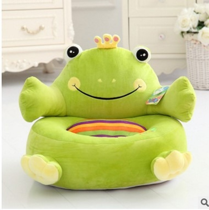 Explosive Children's Cartoon Lazy Sofa Cute Elephant Frog Penguin Plush Seat Comfortable Baby Seat Sofa Plush Toy