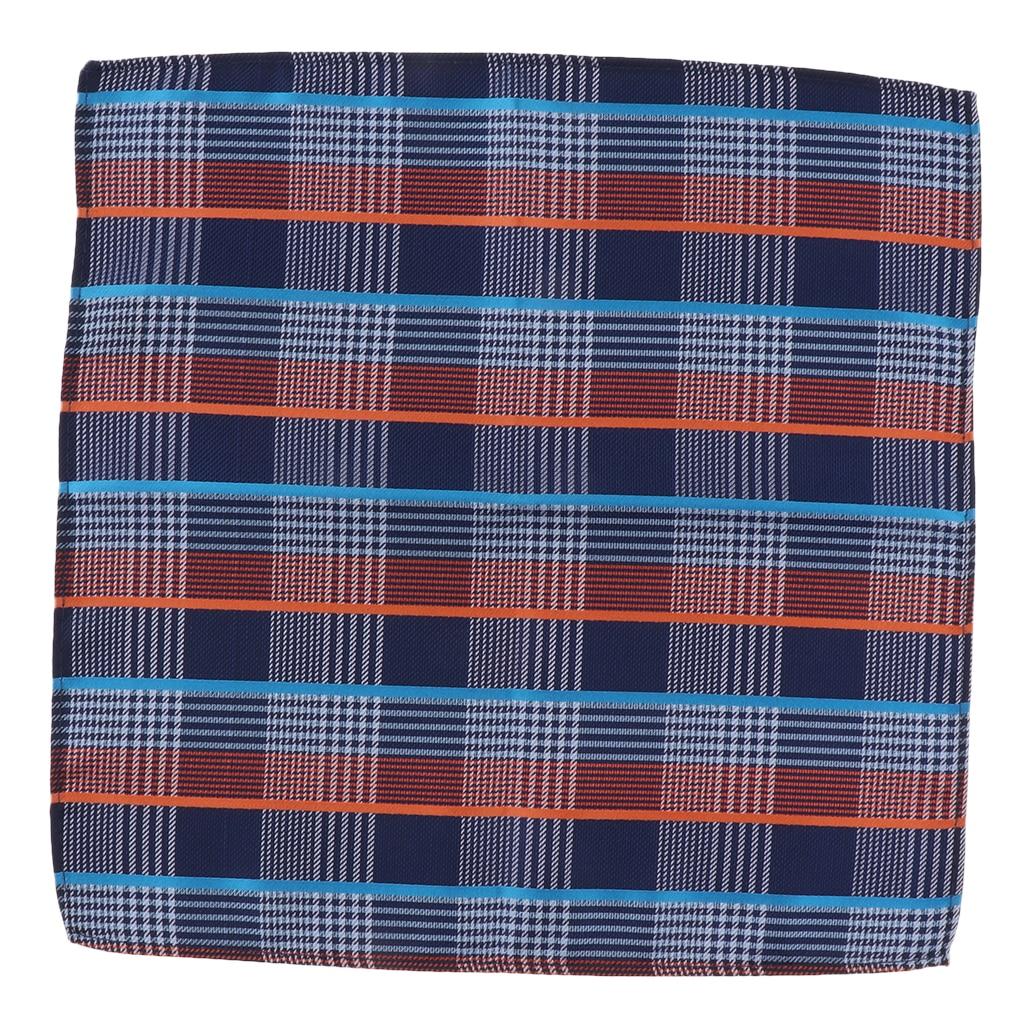 Cotton Plaid Men Handkerchief Square Decorative Suits Grid Hanky