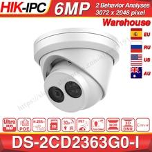 Hikvision Original et OEM 6MP caméra DS 2CD2363G0 I H.265 visage détecter réseau IP caméra POE CCTV caméra de sécurité fente pour carte SD