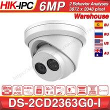 Hikvision oryginalna i OEM kamera 6MP DS 2CD2363G0 I H.265 wykrywanie twarzy kamera sieciowa IP POE CCTV kamera bezpieczeństwa gniazdo karty SD