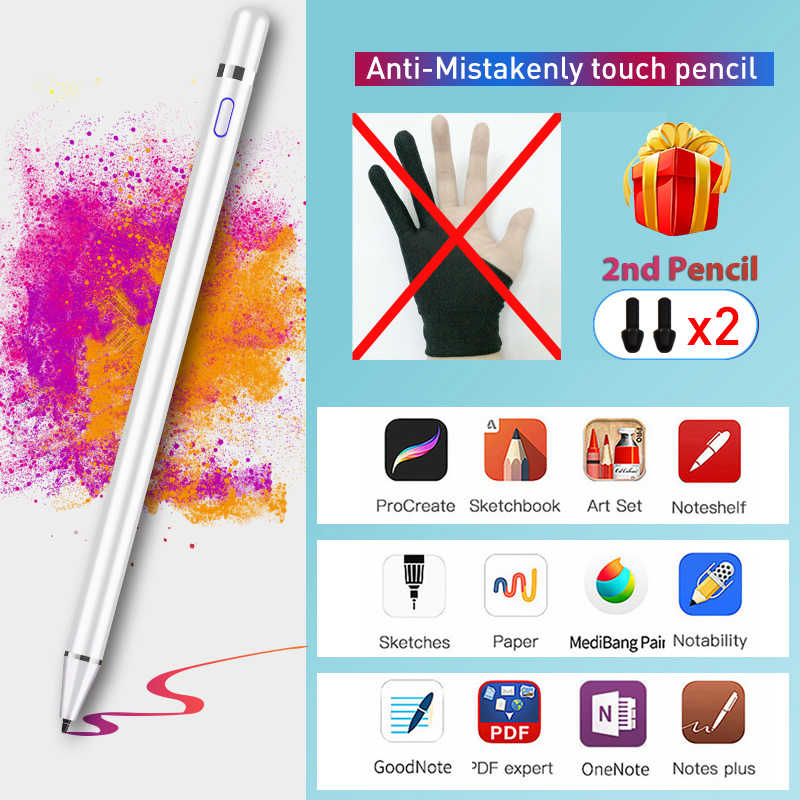Voor Apple Potlood 1 2 Touch Pen Stylus Voor ipad Pro 11 12.9 9.7 2018 Air 3 10.5 2019 Mini 5 ipad 2019 10.2 Geen Vertraging Tekening Pen