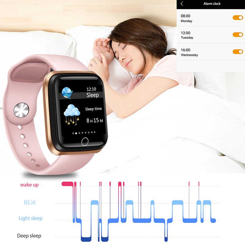 ליגע חכם שעון נשים ספורט חכם צמיד IP67 עמיד למים שעון מד צעדים קצב לב צג LED צבע מסך עבור אנדרואיד ios