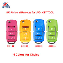 Xhorse 1pc x001 série colorida (rosa amarelo azul verde) universal remoto chave 3 botão para vvdi chave ferramenta