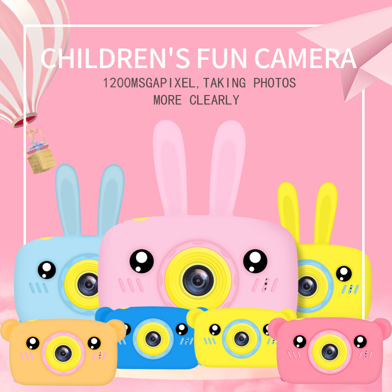 Cartoon Digital Children Camera Baby Toys Creative Educational Toy Photography Training Accessories Birthday Gifts Baby Products