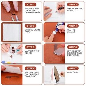 Image 5 - LUDUO Vinyl Liquid Leather zestaw naprawczy klej wklej fotelik samochodowy poprawa stanu skóry Refurbish odzież buty Boot Fix Crack z 10 sztuk Patch