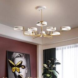 Nowoczesna minimalistyczna restauracja żyrandol led zindywidualizowana kreatywne oświetlenie salon sypialnia ciepły bar żyrandol