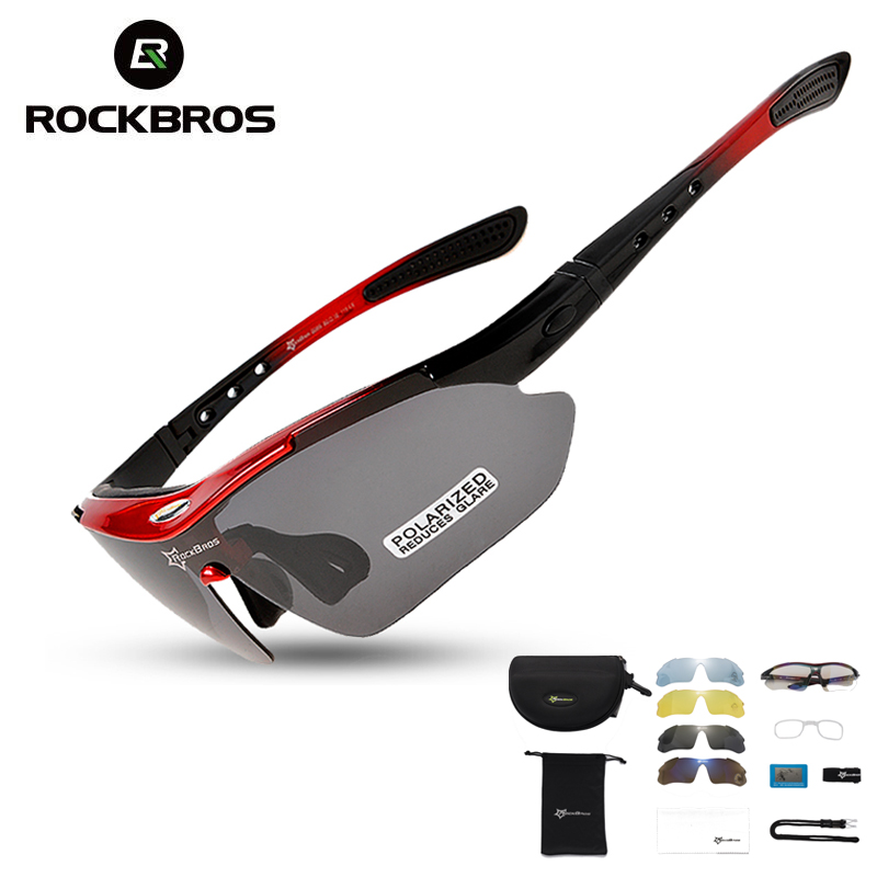 RockBros Polarized Cycling Sun Glasses Outdoor Sports Bicycle Glasses Men Women Bike Sunglasses 29g Goggles Eyewear 5/3 Lens title=