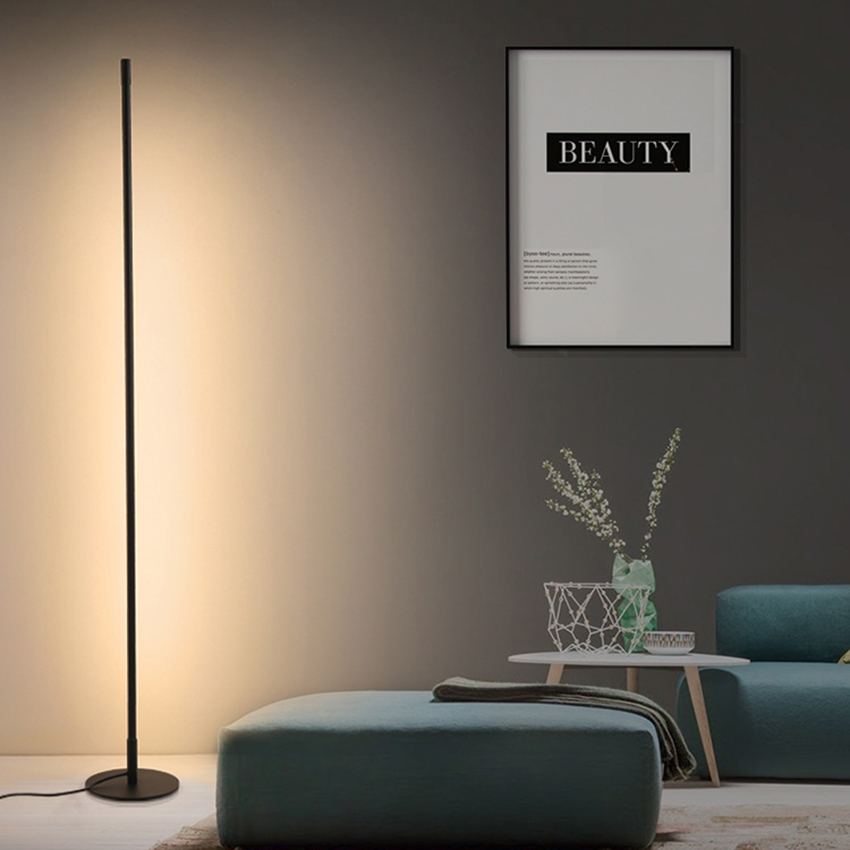 북유럽 미니멀리스트 플로어 램프 led 디 밍이 가능한 플로어 조명 현대 거실 침실 소파 서 램프 실내 장식 전등
