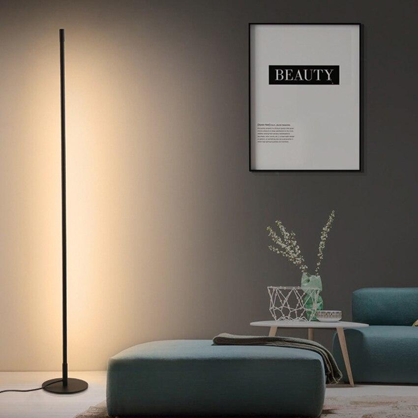 Skandynawska minimalistyczna lampa podłogowa led z możliwością przyciemniania oświetlenie podłogowe nowoczesny salon sypialnia Sofa lampa stojąca wystrój wnętrz oprawy oświetleniowe