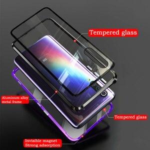 Image 3 - Роскошный магнитный металлический чехол для Xiaomi Mi Cc9 Cc9e 9t Cc 9 Se 8 Redmi K20 Note 8 7 Pro 128 ГБ Global двойное стекло 360 Полное покрытие