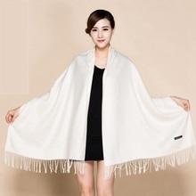 Long Shawl Scarfs Wrap For Female Fashion Fine Tassels Cashm