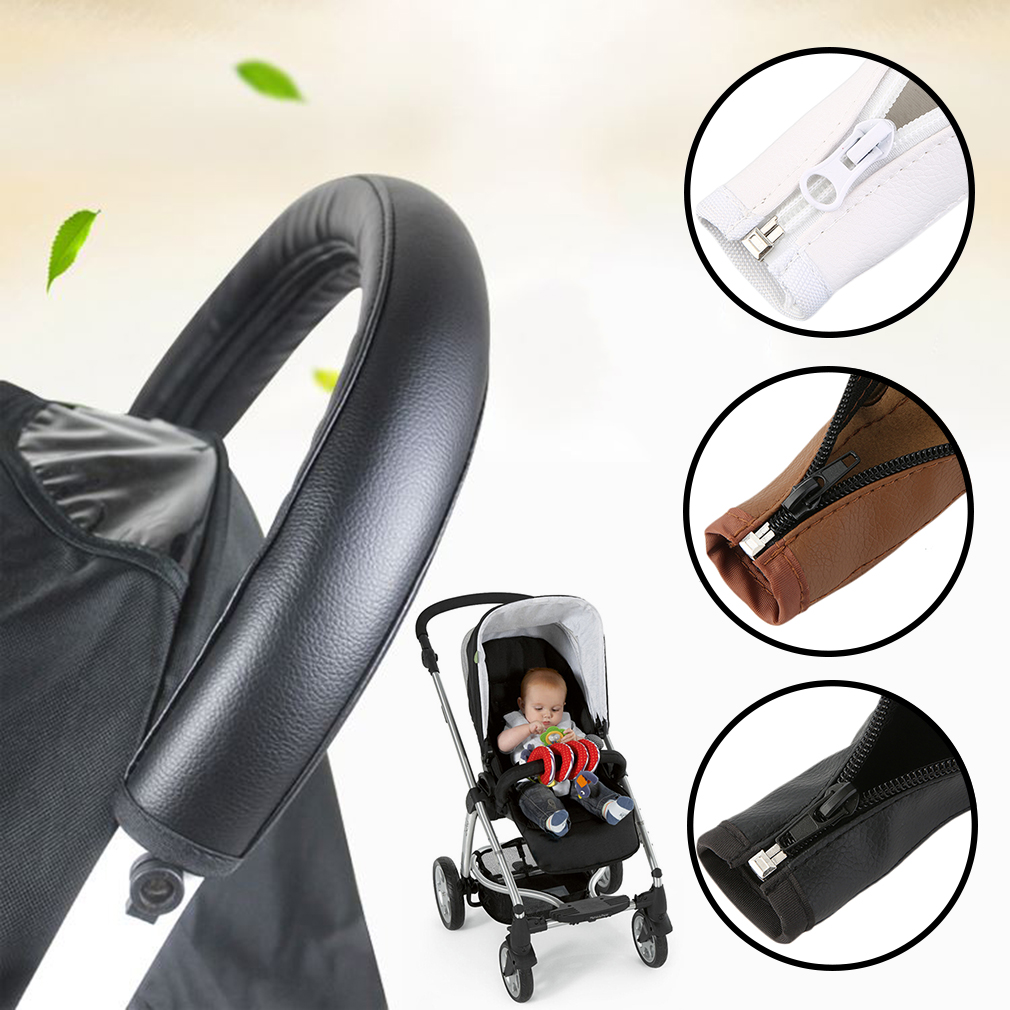 3 Colors Baby Pram Stroller Accessories Armrest PU Leather Protective Case Cover Arm Covers For Handle Wheelchairs Pushchair