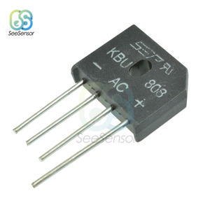 10Pcs/lot KBL608 KBL-608 KBU808 KBU6J 6A 800V 6A 600V 8A 800V Diode Bridge Rectifier