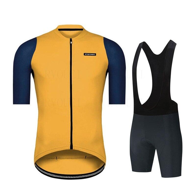 Комплект одежды для велоспорта Etxeondo 2021, дышащая велосипедная одежда, одежда для велоспорта с коротким рукавом, спортивный комплект для вело...