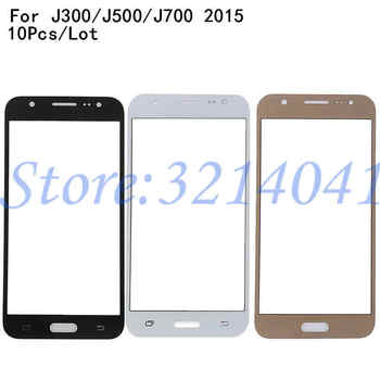 10Pcs/Lot For Samsung Galaxy J3 J5 J7 2015 J300F J500F J700 SM-J700F Touch Screen Front Glass Panel TouchScreen LCD Outer Lens image