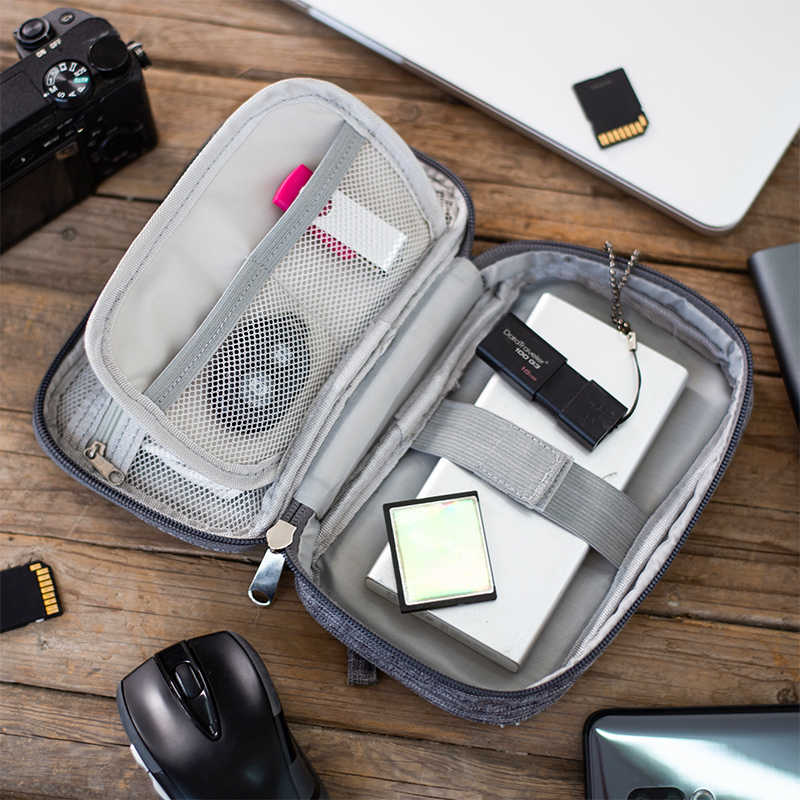 Cáp Túi Dụng Dây Sạc Kỹ Thuật Số USB Tiện Ích Di Động Điện Tử Tai Nghe Chụp Tai Khóa Và Túi Phụ Kiện Cung Cấp