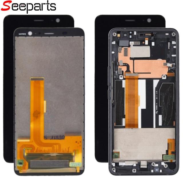 100% Test pour HTC U11 + u11 Plus LCD avec cadre affichage écran tactile numériseur assemblée pièces de rechange pour HTC U11 + lcd
