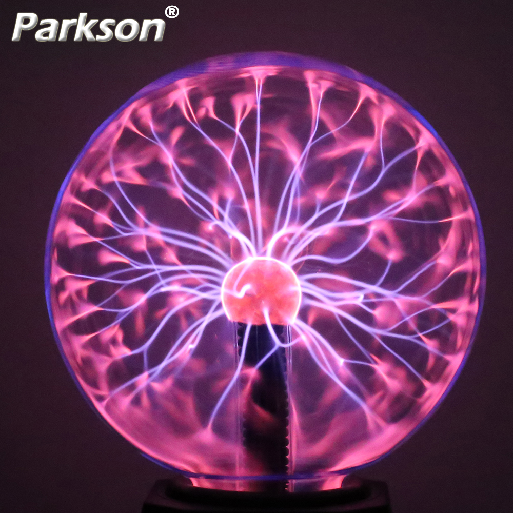 Novelty LED Children Night Light Plasma Ball Table Lamp EU Plus AC 220V 3/4/5/6 Inches Holiday Decoration Baby Kid Lamp