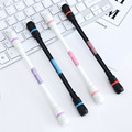 Креативная стираемая гелевая ручка 0 5 мм забавная Вращающаяся ручка вращающаяся игровые ручки для детей Обучающие игрушки Kawaii Канцелярски...