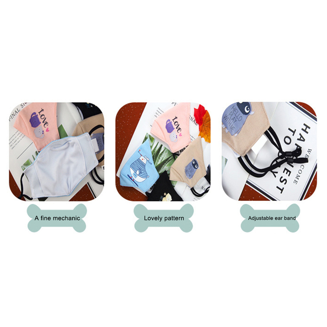 Antidust Cotton Mouth Masks For Newborn Babies Against Dust, Pollen, Allergens And Flu Germs Healthy Care Mask 3