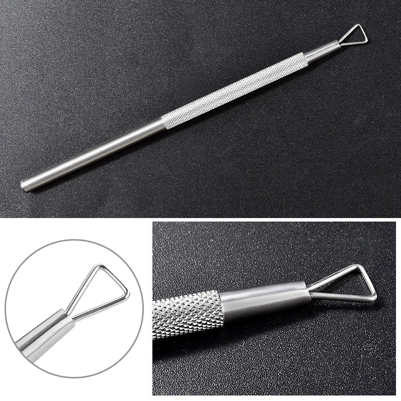 1Pc Nail Cuticle Spoon Pusher Scraper Remover Stainless Steel Nail Art Dead Skin Removal Pedicure Accessories Manicure Tool 4