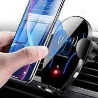 X8 voiture évent sans fil Qi Charge rapide Auto Clip support de téléphone support support support celulaire support smartphone voiture
