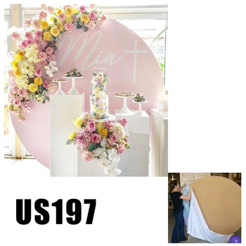 pink Wedding Props Decor Round Ring Arch bridal background party supplies photo props US197