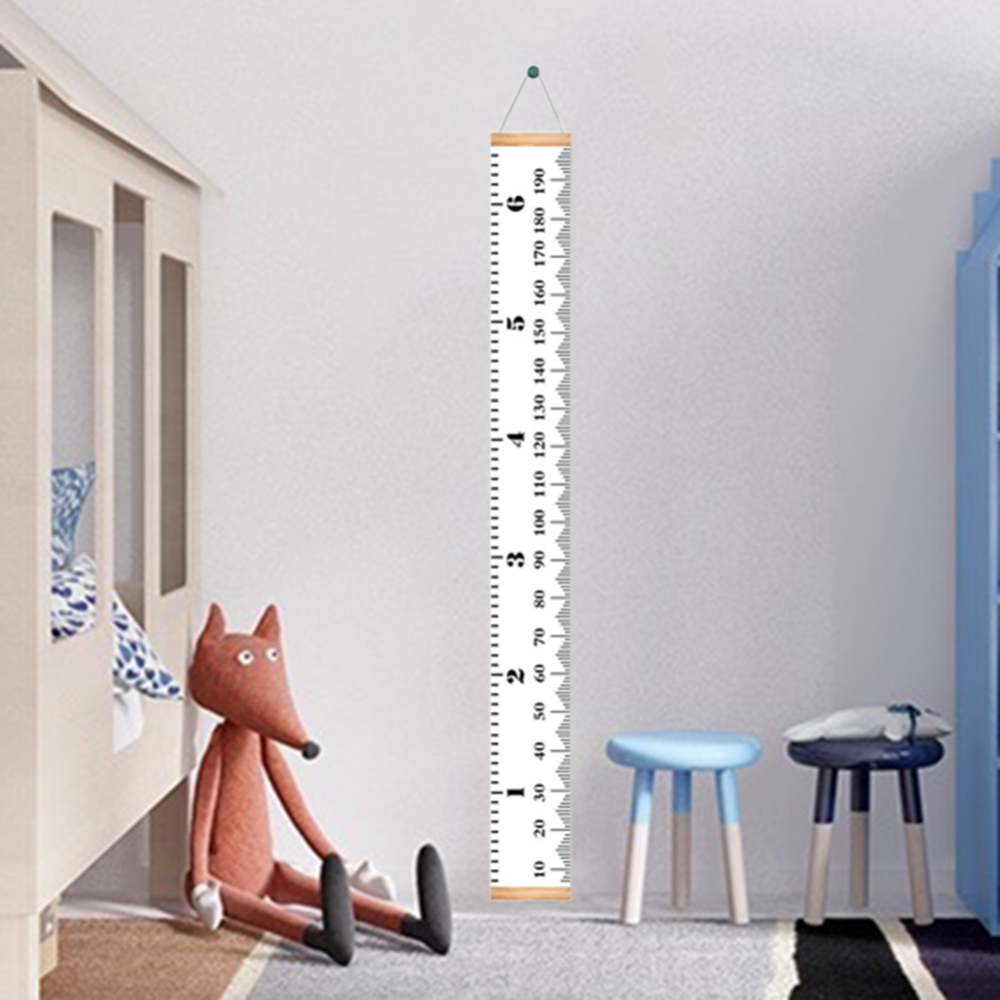 Baby Removable Height Growth Chart Wall Hanging Ruler Measurement Chart