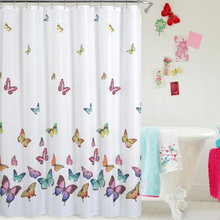 Shower Curtain Multicolored Butterflies Curtain Polyester Fabric Waterproof Simple Printed Polyester Waterproof Shower Curtain