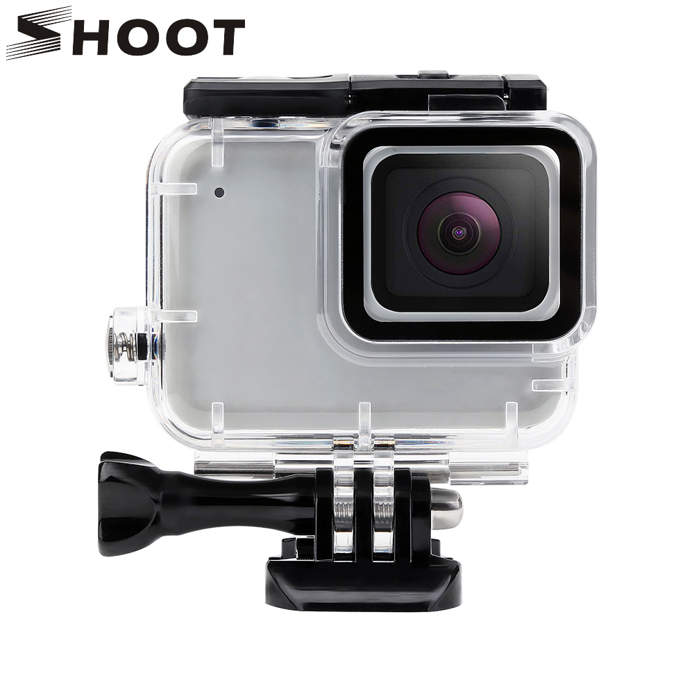 SHOOT Underwater Waterproof Case Shell For Gopro Hero 7 Silver White Cam Diving Protective Housing For Gopro Hero 7 Accessories