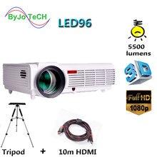 LED-проектор Poner Saund, 96 светодиодов, 5500 лм, Full HD, 1080P, 10 м, HDMI