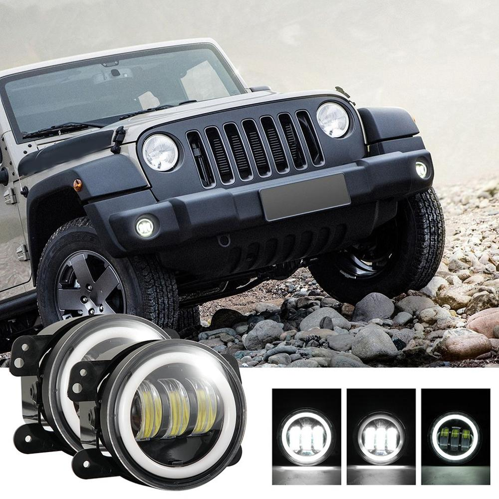 LED halo Angel Eye for Herdsman Halley Headlamp H4/H13 Super Bright Head Lamp Work Light