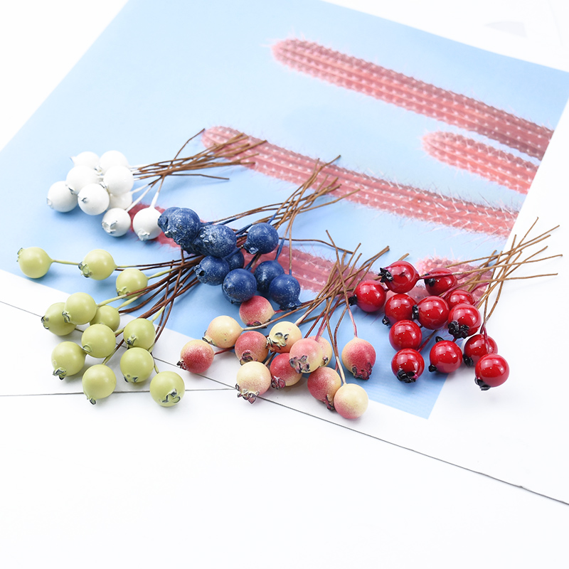 20/50/100 Pieces Cute cherry artificial fruit home decoration accessories diy gifts candy box wedding decorative flowers wreaths