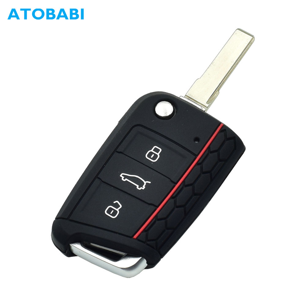 Car-Key-Case Keychain-Bag Remote-Fob-Protector-Cover Polo-Seat Folding Skoda Octavia
