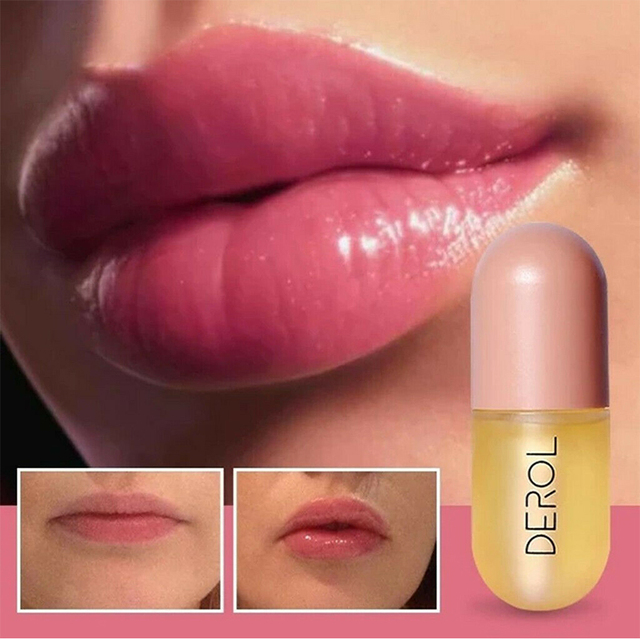 5ml Instant Volumising Lips Plumper Repairing Reduce Lip Fine Lines Mask Long Lasting Moisturizer Care Lip Oil Sexy Plump Serum 1
