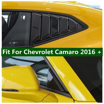 Przednia szklana ćwiartka trójkątna płyta boczne okno tylne żaluzja pokrywa do klamki tapicerka do chevroleta Camaro 2016 #8211 2020 tanie i dobre opinie LAPETUS CN (pochodzenie) Chromowa stylizacja Fit For Chevrolet Camaro 2016 - 2020 Iso9001 0inch