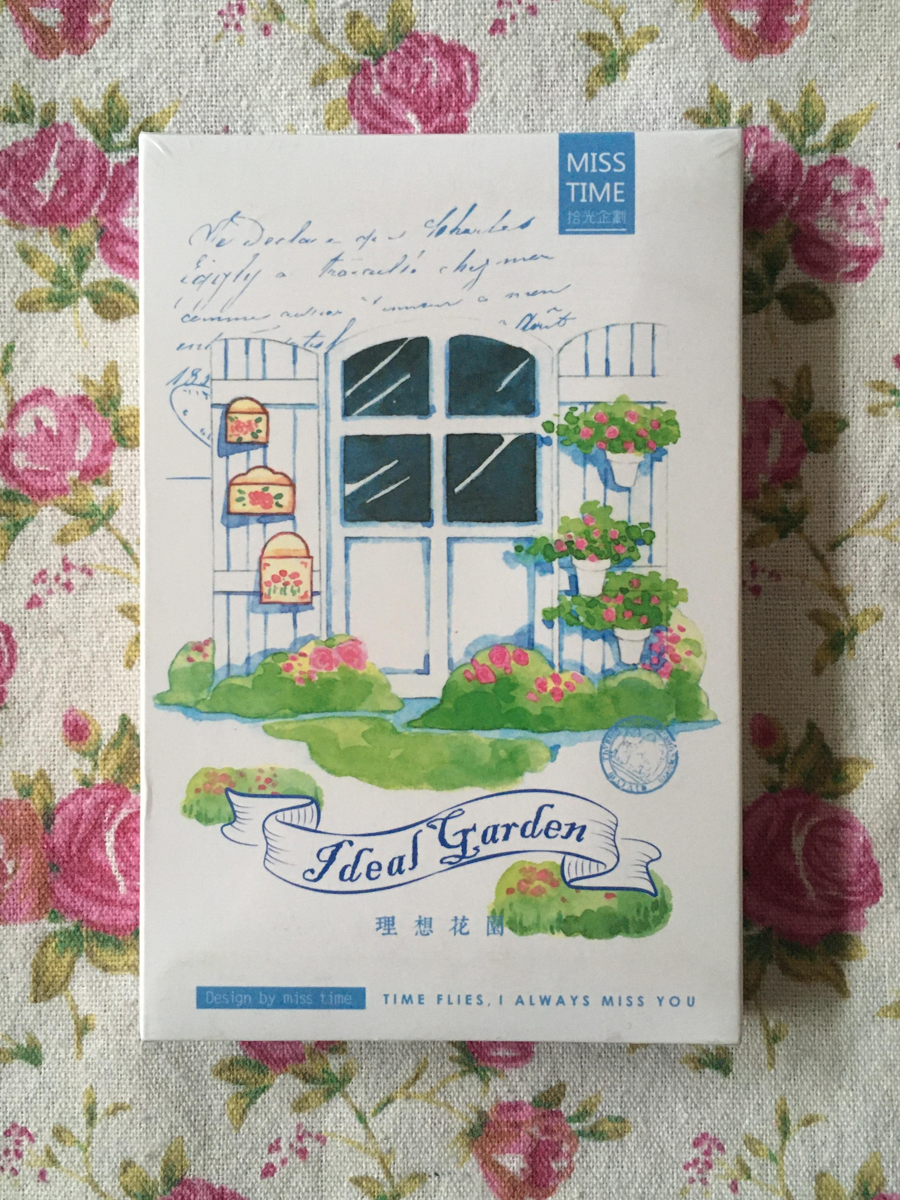 P164- Ideal Garden Paper Postcard(1pack=30pieces)