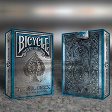 Bicycle Metal Blue Rider Back Playing Cards Poker Size USPCC Limited Texture Edition Deck Magic Cards Magic Tricks Props Magia цена 2017