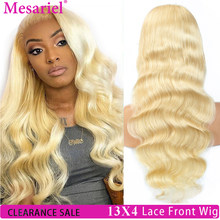 613 Blonde 13x4 Lace Front Wig 150% Remy Brazilian Body Wave Hair Transparent Lace Frontal Wigs Pre plucked With Baby Hair