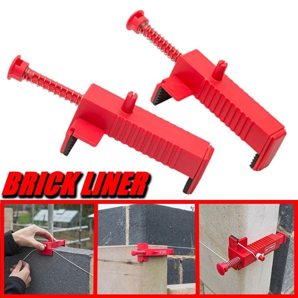 2pc Construction Tools For Masons Engineering Plastic Bricklaying Line Drawing Tool Brick Leveling Measuring Tool Bricklayer #LC