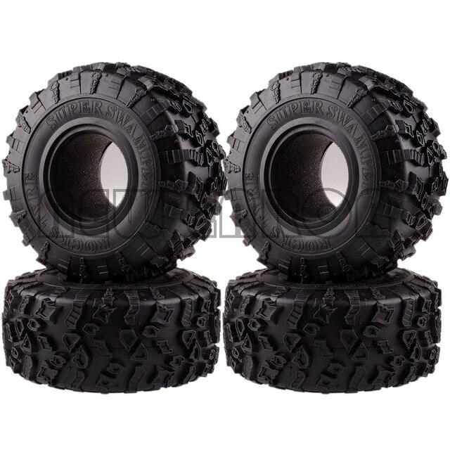 ENRON 4P pneus Super Swamper de 2.2 pouces, pneus de 132MM, pour RC 1/10 escalade, chenille 1:10 RR10 Wraith TRX 4 TRX4 KM2 YETI