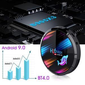 Image 2 - H96 MAX X3 Android 9,0 TV Box Amlogic S905X3 Quad core 2,4G & 5G Wifi Bluetooth 1000M LAN 8K H96MAX Unterstützung Stimme remote Media Box