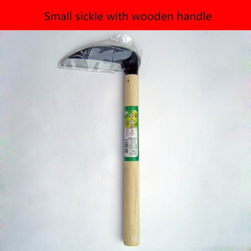 27cm Sharp Grass Sickle Lightweight Steel Machete Knife Wooden Handle Hand Sickle Hand Scythe For Weeding Garden Pruning Tools
