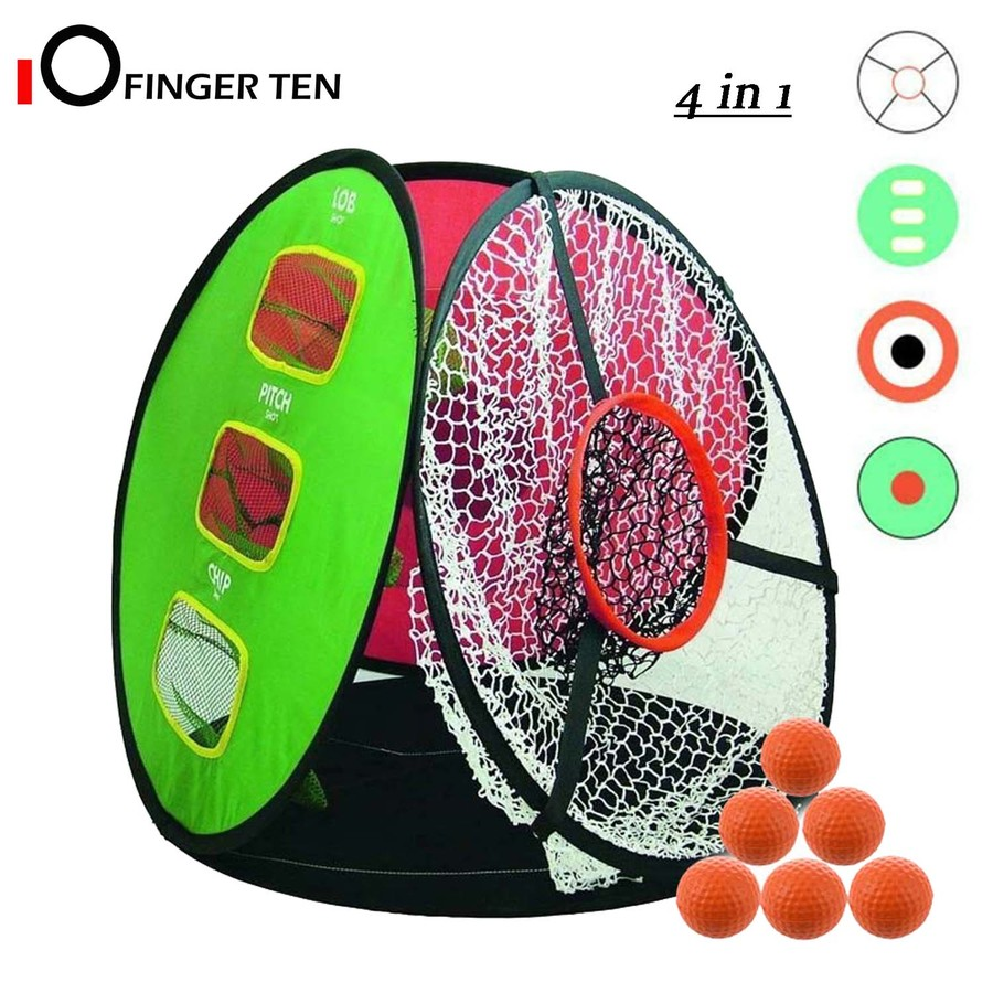 Golf Chipping Net Backyard Outdoor Target Practice With 6 Golf Foam Balls Pop Up Hitting Nets For Indoor Accuracy Swing