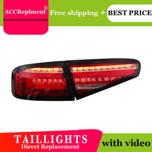 Image 5 - Car Styling LED Tail lights For Audi A4 2013 2016 Taillight LED Running light + Dynamic Turn Signal + Reverse + Brake A Set