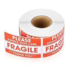 100/200 шт. хрупких наклеек обращайтесь с осторожностью. Спасибо. Предупреждающие этикетки для украшения товаров.