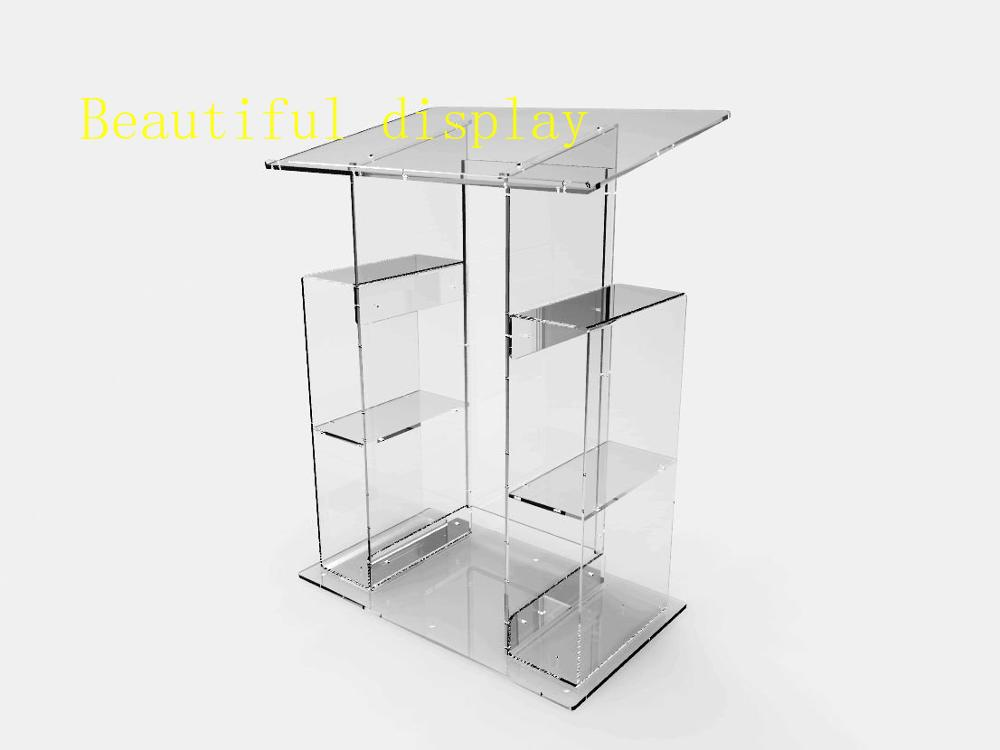 Fixture Displays Deluxe Plexiglass Acrylic Clear Podium Pulpit Lectern