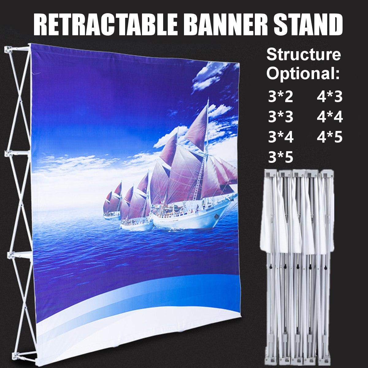 Aluminum Alloy Display Banner Stand Retractable Nylon Display Banner Stand Paste Stand Flower Wall Frame Backdrop Banner Rack