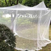 Camping Net biała siatka przenośny kwadratowy składany moskitiera moskitiera lekki odkryty namiot kempingowy śpiący lato tanie tanio HAIMAITONG CN (pochodzenie) Other Uniwersalny Kwadratowa OUTDOOR Mosquito Net dla dorosłych Moskitiera pałacowa Owadobójcze
